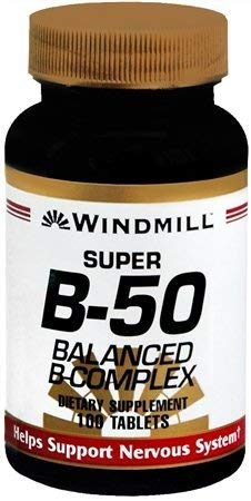 Windmill Super B-50 Balanced Complex Tablets 100 Tabs