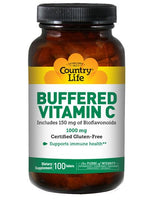 COUNTRY LIFE VITAMINS BUFFERED VITAMIN C WITH BIOFLAVINOIDS 1000MG - 100 TAB