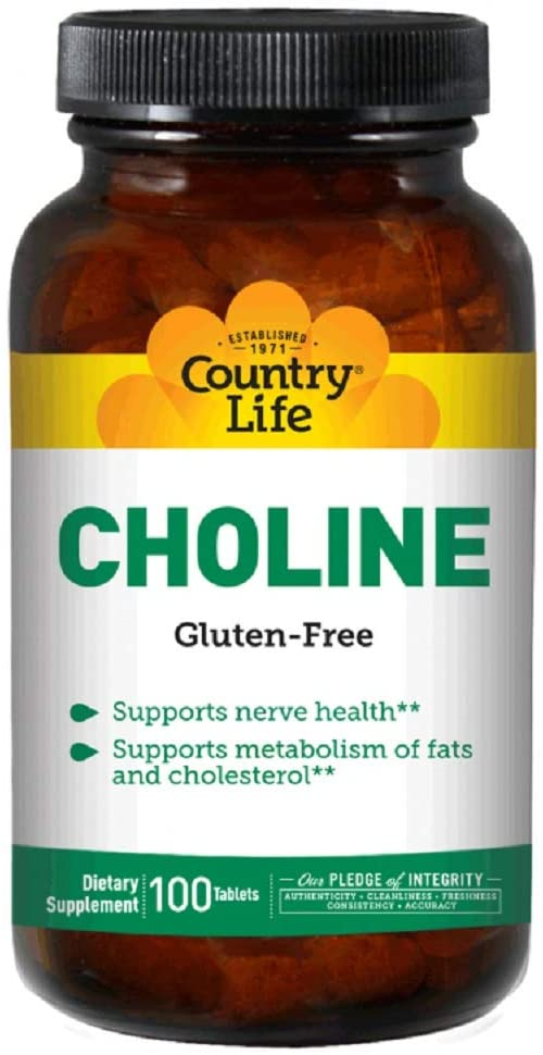 Country Life Choline 650 mg - 100 Tablets
