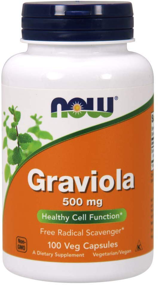 Now Graviola 500mg, 100 Capsules,Dietary Supplement
