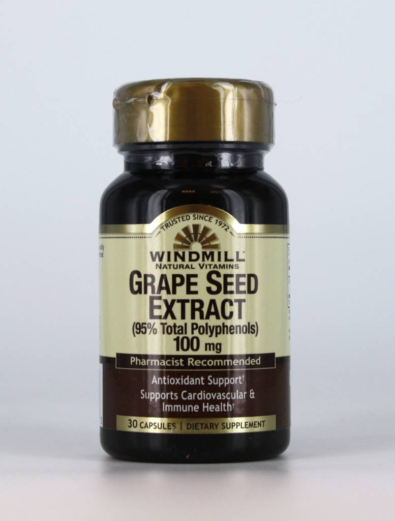 windmill Grape Seed Extract 100mg 30 Caps