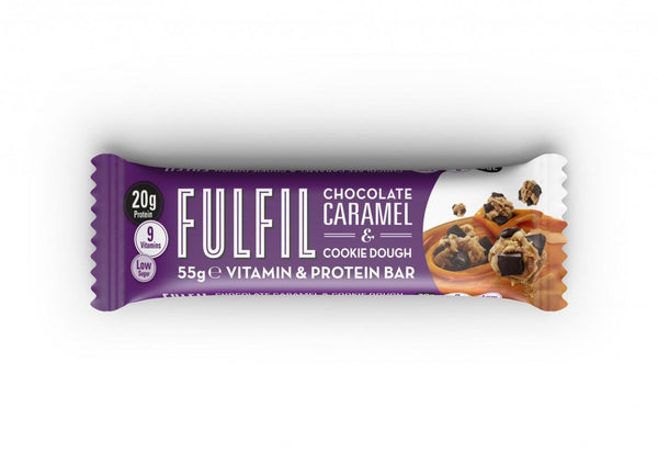 Fulfil Protein Bar Chocolate Caramel & Cookie Dough  55G Per Piece