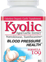 KYOLIC AGED GARLIC EXTRACT FORMULA 109, BLOOD PRESSURE HEALTH - 80 CAPSULES