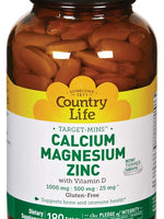 Country Life Target Mins - Calcium Magnesium Zinc, with Vitamin D - 180 Tablets