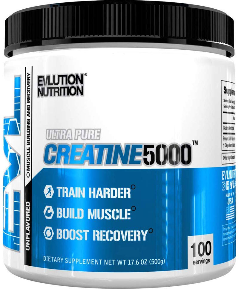 Evlution Nutrition Creatine 5000 Unflavored Powder (100 Servings)
