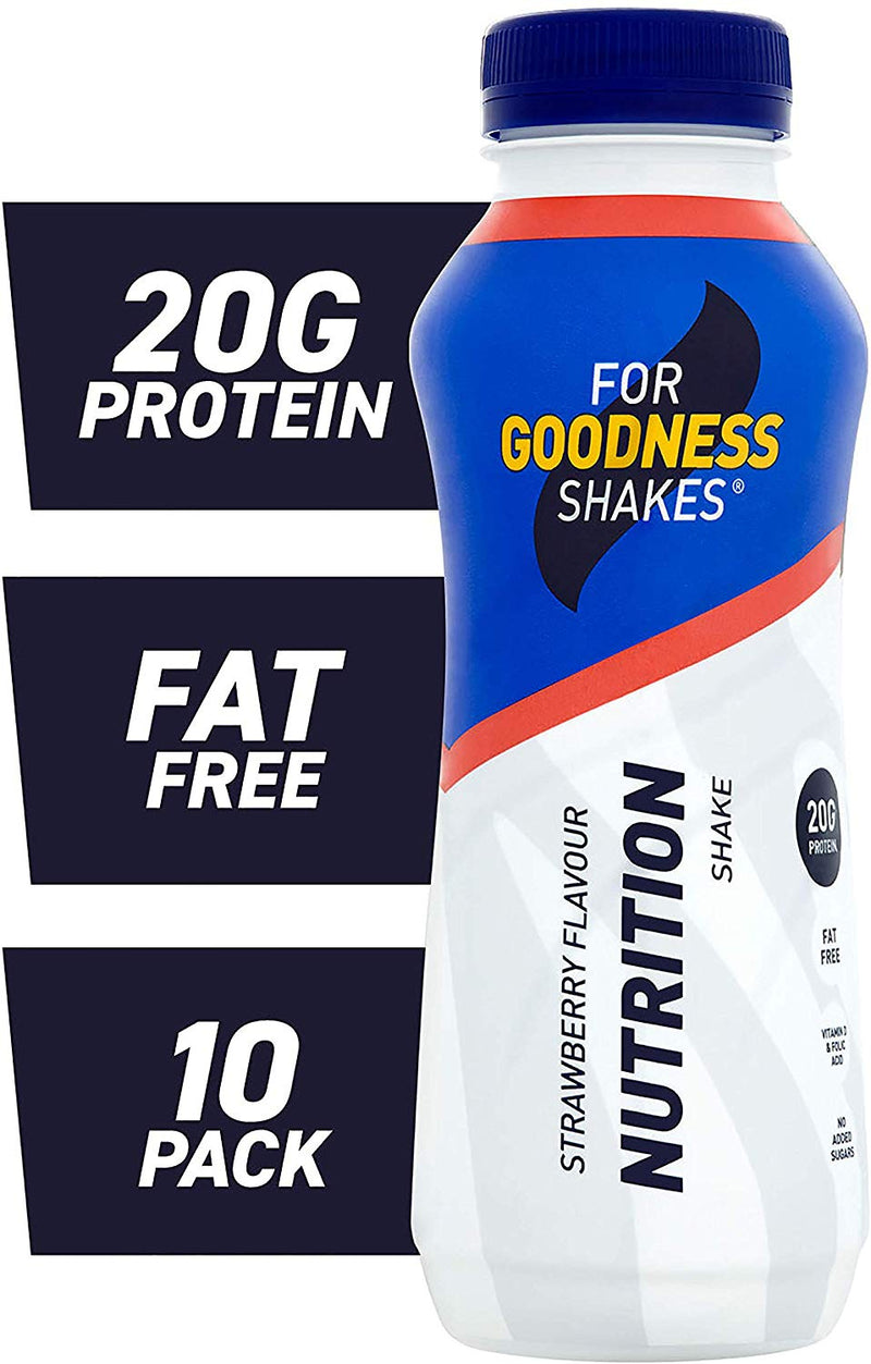 For Goodness Shakes Protein Nutrition Strawberry Shake, 315Ml