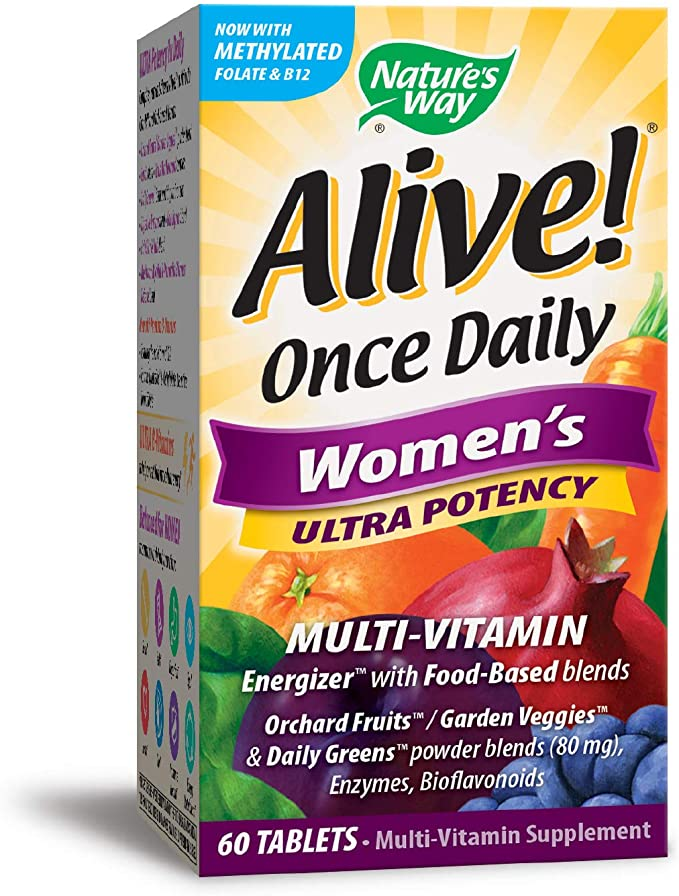 Alive  Once Daily Women's Ultra Potency - Multi Vitamin 60 Tablets