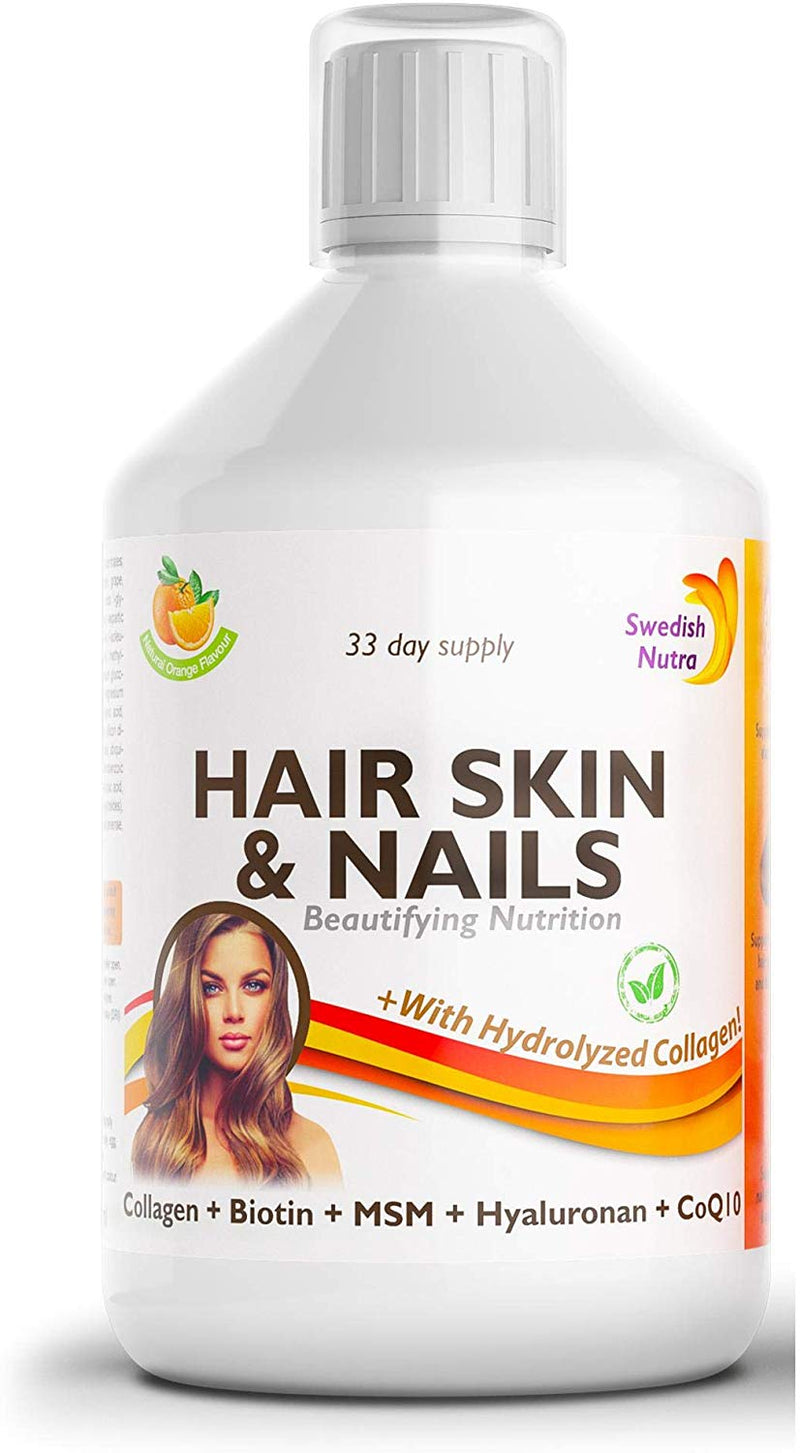 Swedish Nutra Hair Skin & Nails Collagen + Hydrolyzed