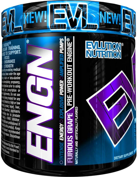Evlution Nutrition Engn Furious Grape Pre Workout Engine, 30 Servings