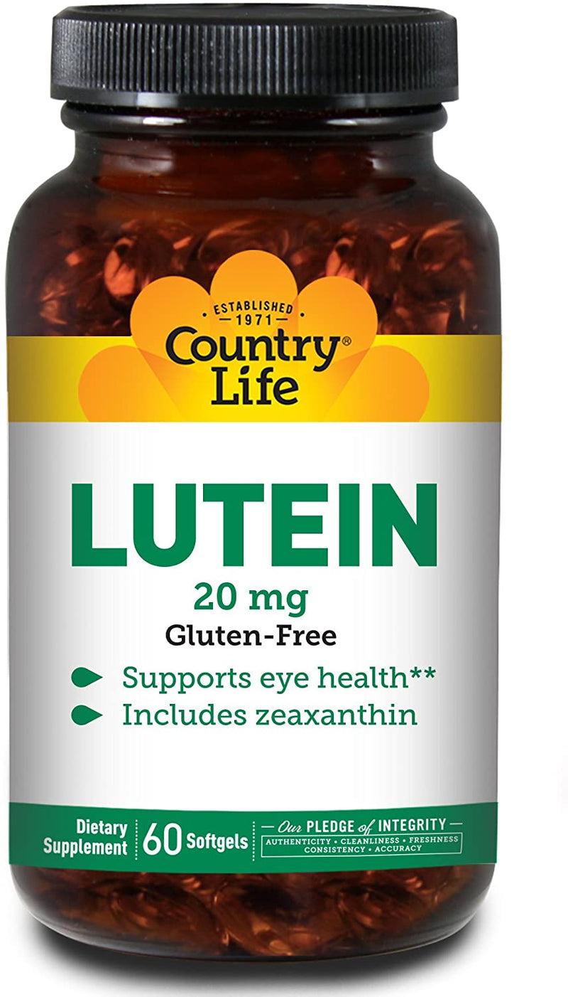 Country Life Lutein 20 mg - 60 Softgels