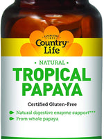 Country Life Tropical Papaya - 500 Chewable Wafers