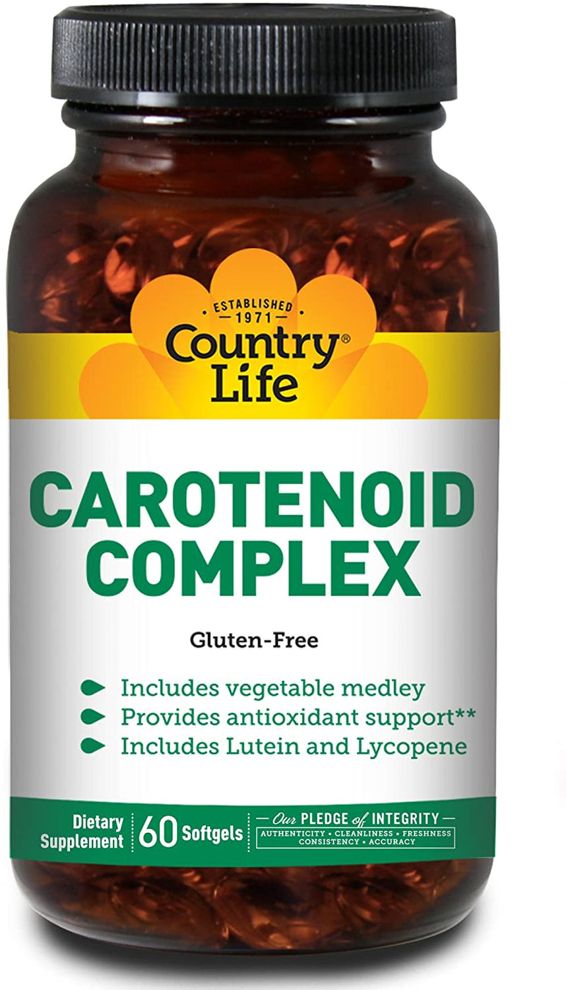 Country Life Carotenoid Complex, 60 Softgels