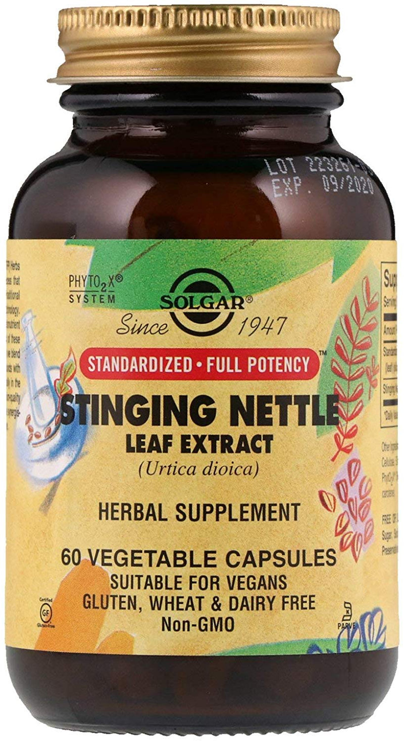 Solgar Stinging Nettle Leaf Extract, 60 Caps
