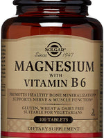 "Solgar €"" Magnesium With Vitamin B6, 100 Tablets"