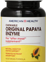 American Health Original Papaya Enzyme Chewable Tablets - 100 Count