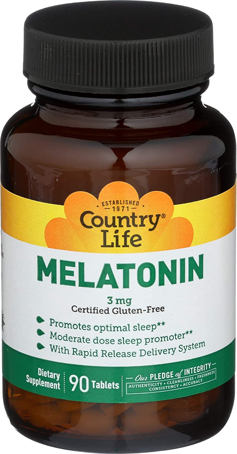 COUNTRY LIFE MELATONIN RAPID RELEASE,3 MG - 90 TABLETS