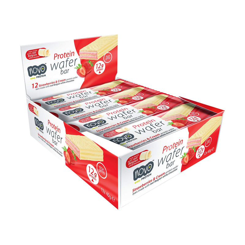Novo Protein Wafer Bar Strawberry (12 pc / box)