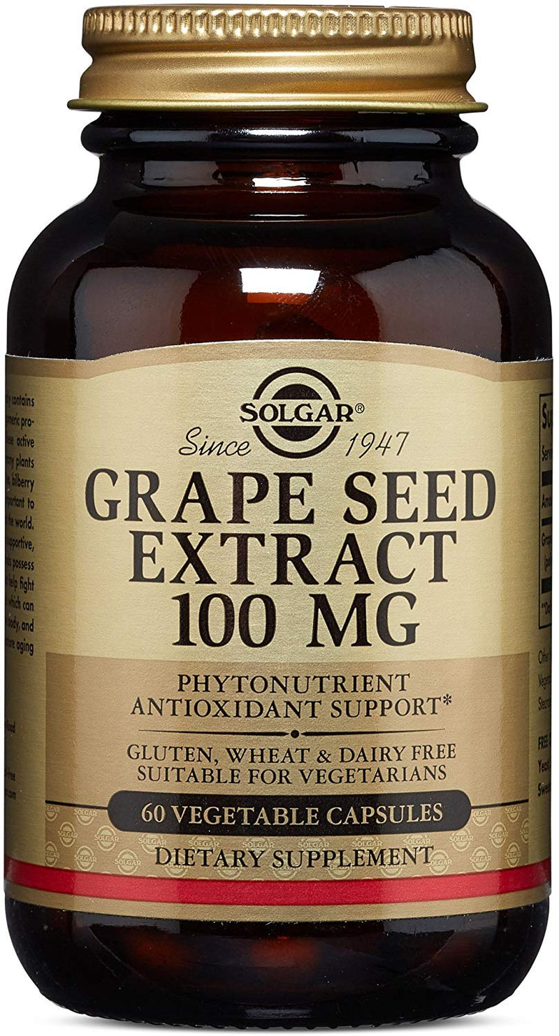 Solgar Grape Seed Extract, 100 Mg - 60 Capsules