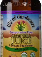 LILY OF THE DESERT Whole Leaf Preservative Free Aloe Vera Juice - 16 FZ