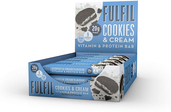 Fulfil Cookies And Cream Vitamin And Protein Bar 55G