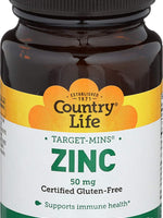 Country Life Target Mins Zinc 50Mg - 90 Tablets