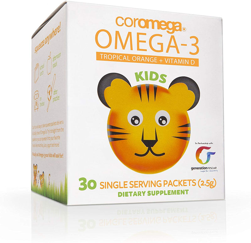 Omega 3 Squeeze Kids 30 packets, 120 Servings