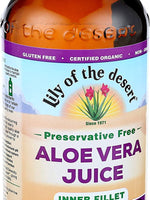 Lily of the Desert Aloe Vera Juice, Inner Fillet,Preservative Free, 16 Ounces