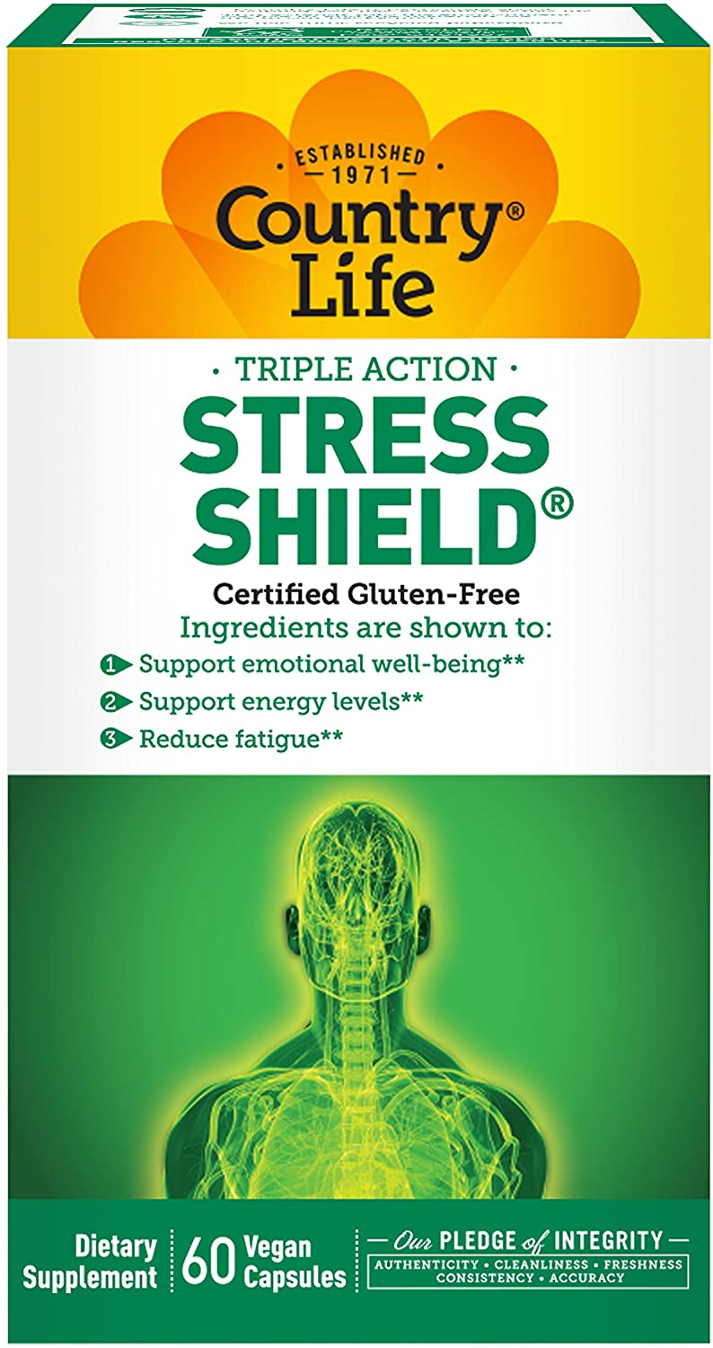 COUNTRY LIFE VITAMINS STRESS SHIELD - 60 Vegetarian Capsules