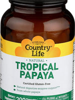 COUNTRY LIFE TROPICAL PAPAYA - 200 CHEWABLE WAFERS