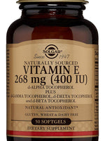 Vitamin E 268 Mg (400 Iu) Mixed Softgels (D-Alpha Tocopherol & Mixed Tocopherols) - 50 Count