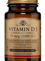 Vitamin D3 (Cholecalciferol) 55 Mcg (2200 Iu) Vegetable Capsules