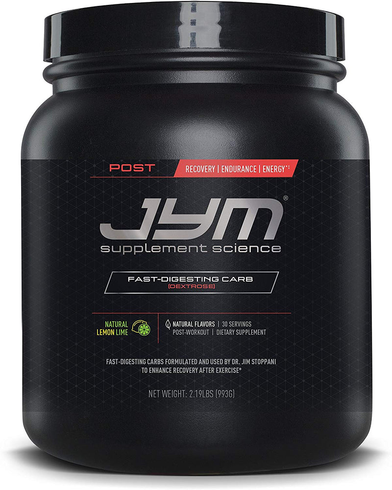 Post Jym Carb - Post-Workout Recovery Pure Dextrose Natural Lemon Lime, 30 Servings