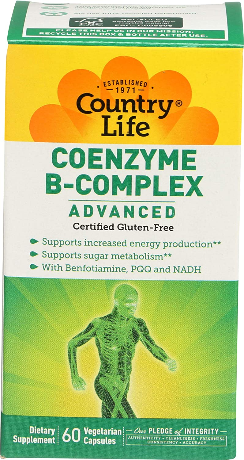 Country Life Coenzyme B-Complex - 60 Vegan Capsules
