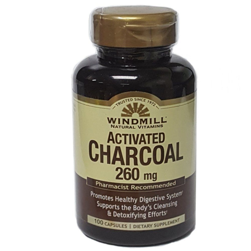 Windmill, Vitamins Activated Charcoal 260mg 100caps