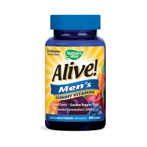 Nature's Way Alive! Men's Gummy Vitamins  60 Gummies (Expiring in October)