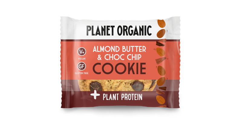 pack of 3, Planet Organic Almond Butter & Choc Chip Protein Cookie(50gX3)