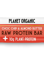 pack of 3 - Planet Organic Raw Vegan Protein Bar Almond Butter & Choc Chip (50gX3)