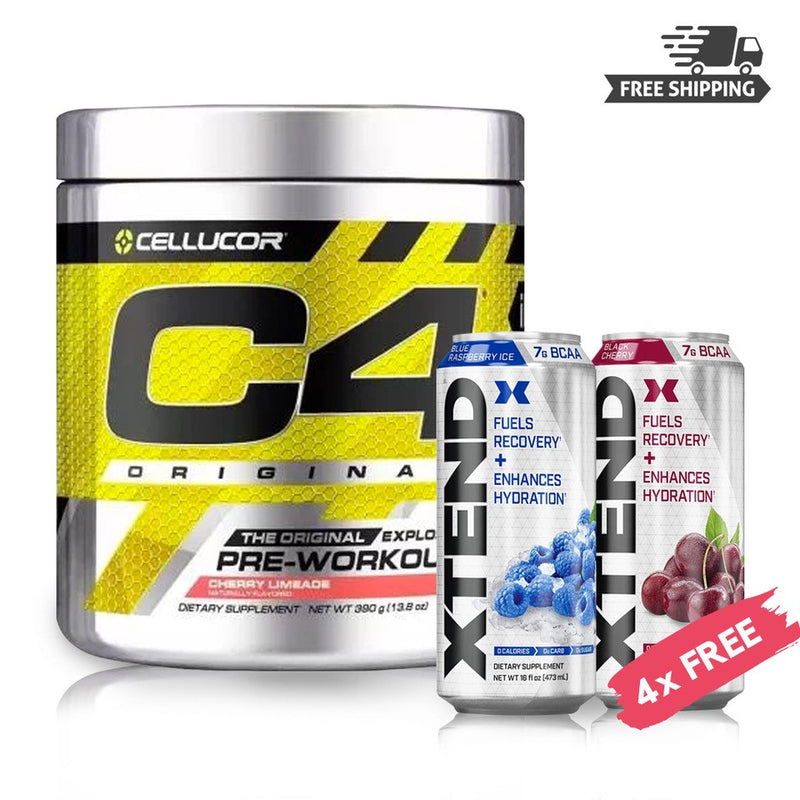 BUY CELLUCOR C4 60SVG & GET 4x - XTEND CARBONATED RTD 16 OZ FREE
