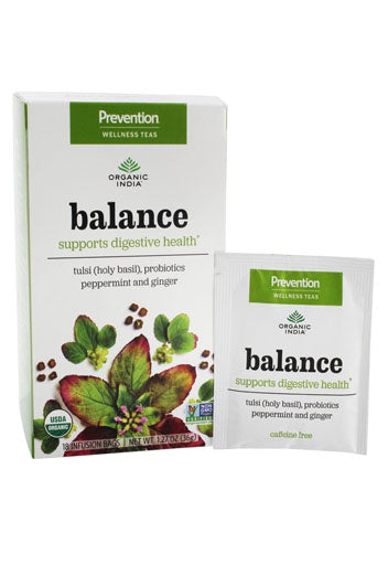 Organic India, Prevention Wellness Tea Balance - 18 Tea Bags (Expiring in October)
