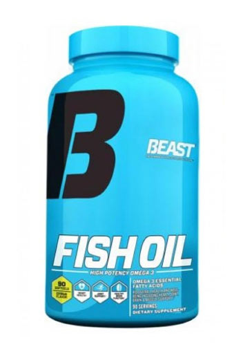 Beast Sports Nutrition Beast Fish Oil Citrus,  90 caps