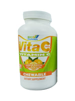 Bio pharma vitamin c chewable 120 tabs - Orange