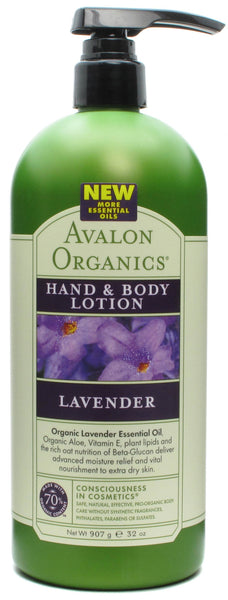 Avalon Naturals Lav Hand & Body Lotion 32 Ounces