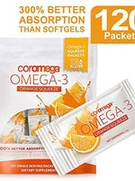 1+1 Offer Coromega Omega  3 Squeeze Orange 120Packets
