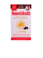 Coromega Women'S Health Fish Oil Orange Chocolate Squeeze Shots 90 Packets