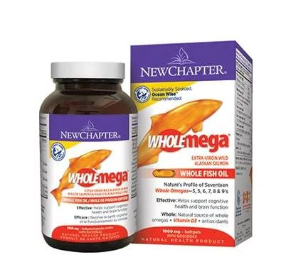 New Chapter,  Wholemega, 1000 Mg,  60 Servings