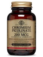 "Solgar €"" Chromium Picolinate 200 Mcg, 90 Vegetable Capsules"