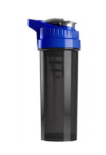 Cyclone Cup Protein Shaker Bottle  - Smoked Blue, 32 Oz