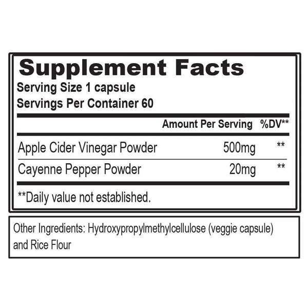 Evl Apple Cider Vinegar 60Vcaps