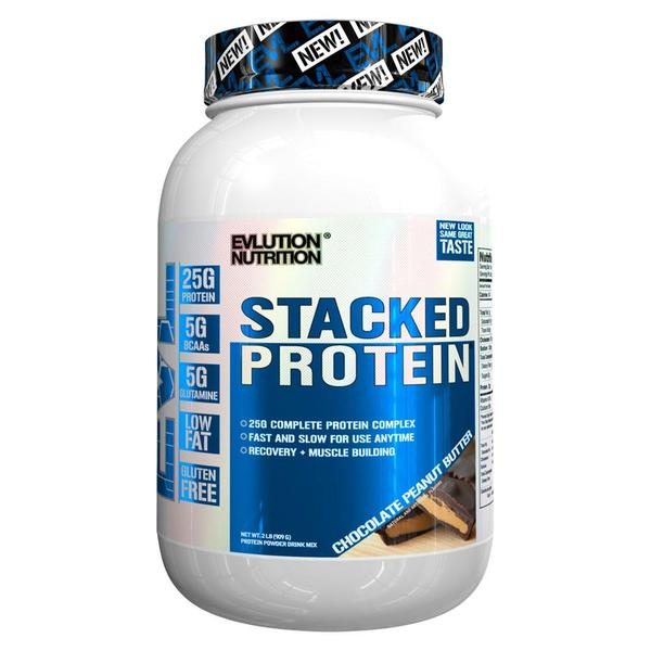 Evlution Nutrition  Stacked Protein 2lb Chocolate Pb (Expiring in December)