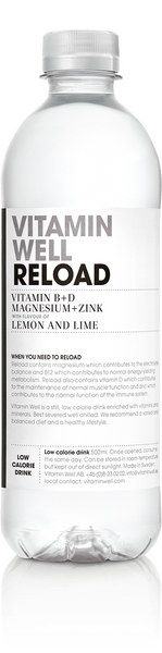 Vitamin Well Reload Low Calorie Drink Lemon And Lime Flavour Box Of 12 X 500Ml